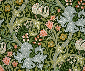 william morris, golden lily, and in hallway image