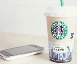 starbucks, coffee, and iphone image