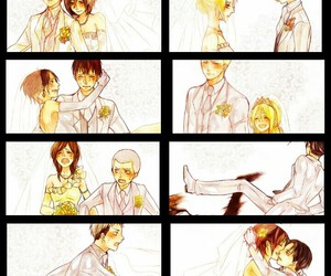 anime, anime couple, and snk image