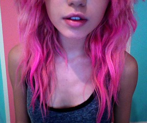 girl, pink hair, and hair image