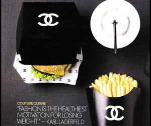 chanel, food, and fashion image