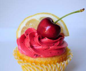 cherry, cupcake, and lemon image