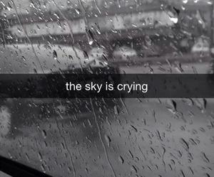 sky, rain, and crying image