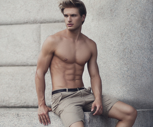 blond, blue eyes, and model image
