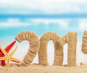 2015, beach, and new year image