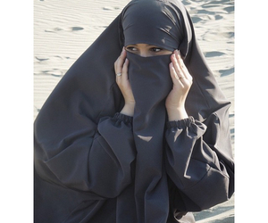 hijab, natural, and niqab image