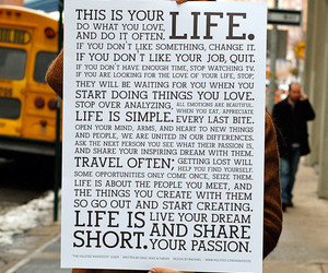 life, quotes, and passion image