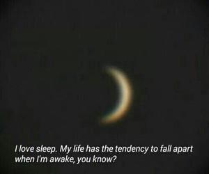 sleep, moon, and quote image
