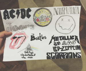 ACDC, metallica, and nirvana image