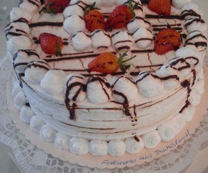 cake, cream, and food image