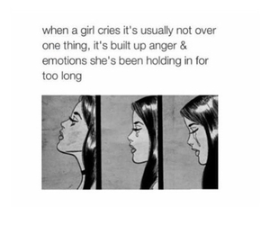girl, cry, and crying image