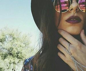 girl, sunglasses, and lips image