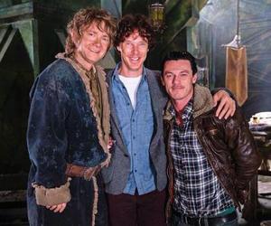 the hobbit, benedict cumberbatch, and luke evans image