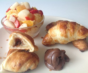 croissant, pear, and yum image