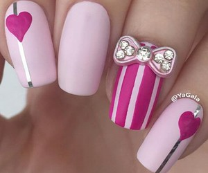 bun, hearts, and nails image