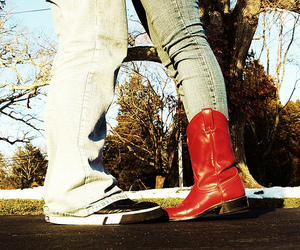 boots, love, and red image