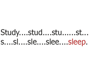 study and sleep image