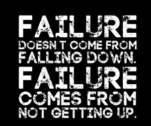quote, failure, and inspiration image