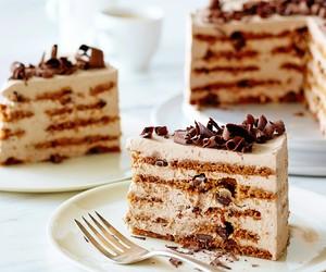 chocolate cake, dessert, and sweet image