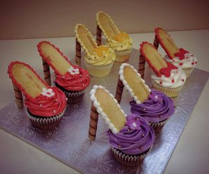 cupcakes, fashion, and sweets image