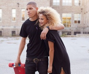 couple, boy, and curls image