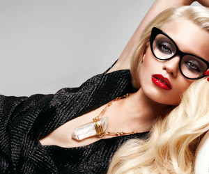 beauty, blonde, and red lips image