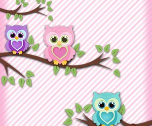 owls, wallpaper, and fondos image