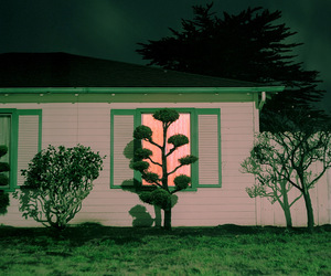 glow, house, and night image