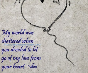 heart, quotes, and heartbreak image