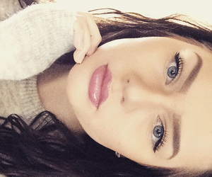 brunette, eyebrows, and girl image