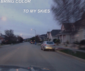 color, dark skies, and driving image