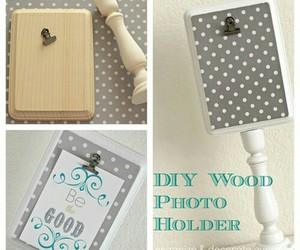 diy, photo holder, and tutorials image