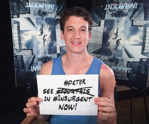 peter, insurgent, and miles teller image