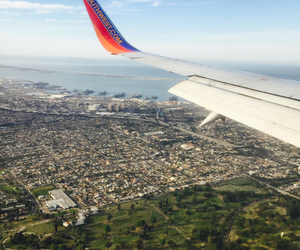 airplane, california, and city image