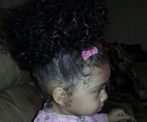 baby and curly hair image