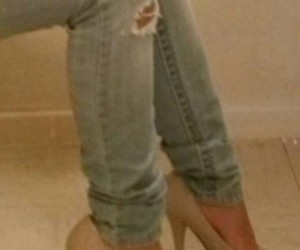 female, legs, and shoes image