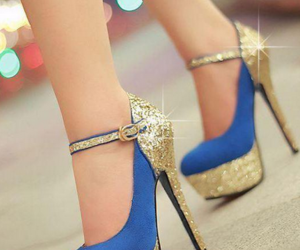 blues, pumps, and sexy image