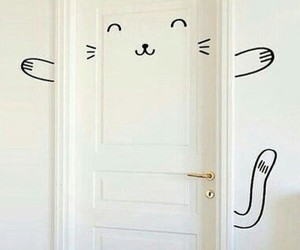 cat and door image