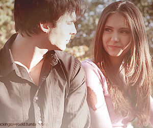 Nina Dobrev, ian somerhalder, and damon image