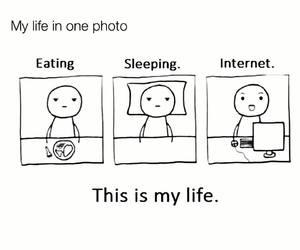 life, sleep, and eat image