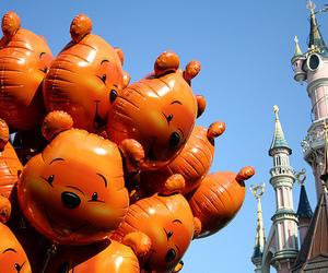 disney, balloons, and winnie the pooh image