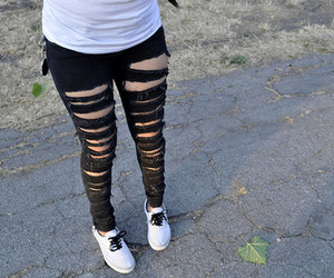 girl, jeans, and black image