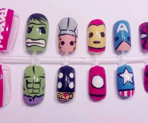 nails, Avengers, and Marvel image