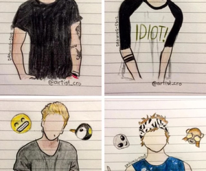5sos, drawing, and luke hemmings image