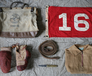 bags, boxing gloves, and knife image