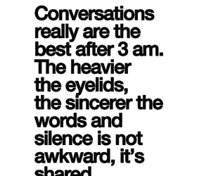 conversation, quotes, and sincere image