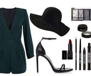 lady, make up, and outfit image