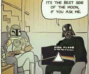 Pink Floyd, star wars, and darth vader image