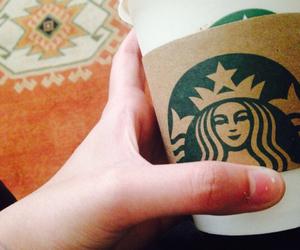 coffee, mine, and starbucks image