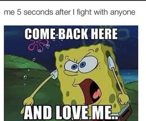 funny, love, and spongebob image